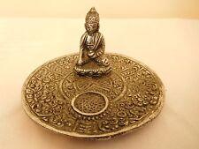 Elegant Expressions Small Metal Cone Incense Burner - Buddha