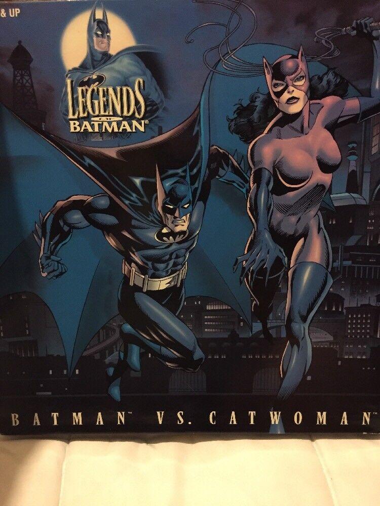 "BATMAN VS CATWOMAN Legends Of Batman  Vintage 1996 KENNER 12"" FIGURES IN BOX"