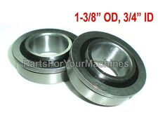 """2 FLANGED BEARINGS OD 1-3/8"""", ID 3/4"""", WILL FIT GO KARTS AND MORE, IH-384881,NEW"""