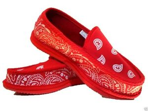 4d4b1c8356d Red Bandana House Shoes Slippers Trooper Brand New Size 9 10 11 12 ...