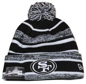 on sale 8c027 7986d Image is loading Adult-New-Era-San-Francisco-49ers-Blk-Wht-