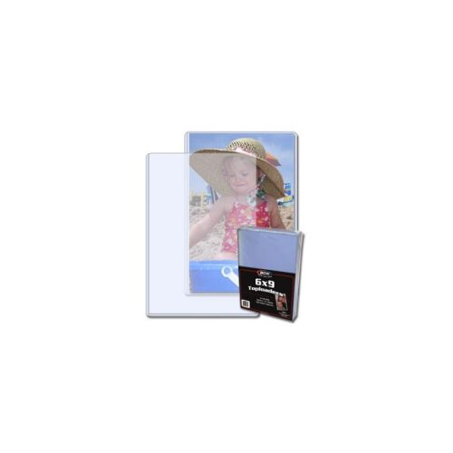 6 X 9 inches Toploader for Storage /& Display x 25 per pack