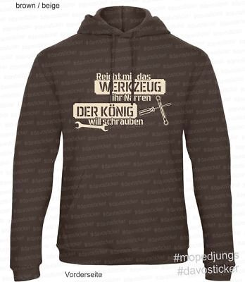 T-Shirt Reicht mir das Werkzeug  Mopedjungs Hercules Zündapp Kreidler Vespa Mofa