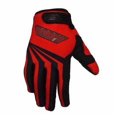 MORPH Racing cycling mountain bike mtb moto bmx White Blue LARGE gloves