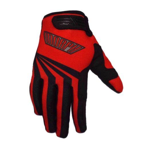 MORPH Racing RED XL gloves motocross mx atv dirt bike mtb moto bmx