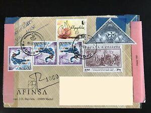 Spain-2671a-2671b-2401-2306-Registered-Cover-CV-20-Madrid-CDS