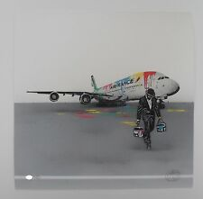 "NICK WALKER ""AIR FRANCE"" LTD ED S/P 100 + Pure Evil,Eine,Dran,Banksy sticker"