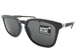 8c1a1eb929ae MONT BLANC Mens Designer Sunglasses Dark Grey Black   Grey MB586 20A ...