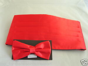 1 Hankie in any colour from 30 choices Manuel/'s Deal/>Mens RED Only Cummerbund
