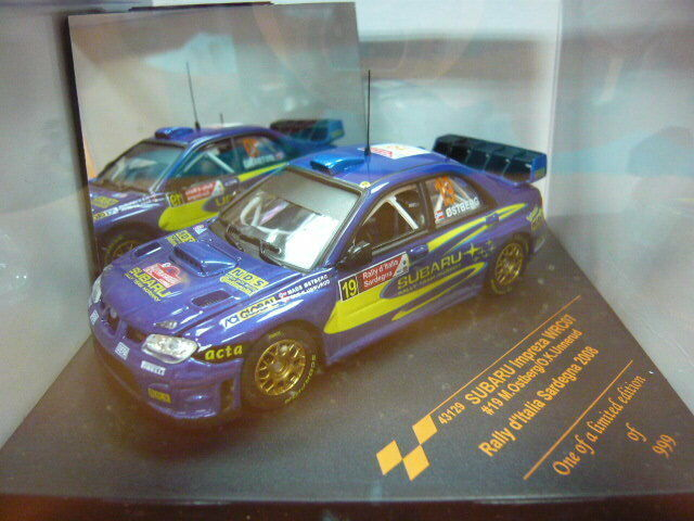 alta calidad Vitesse 1 43 Subaru Impreza Impreza Impreza Wrc 07 Rally Sardegna 2008   19 43129  ventas de salida