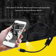 5.5mm 6 LED Wasserdicht Endoscope Kontrollen Borescope Kamera USB Kabel