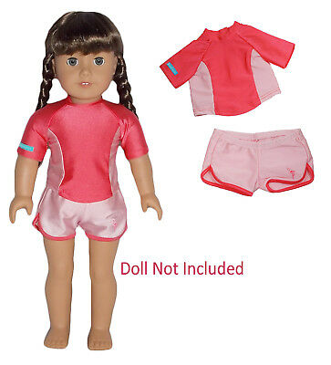 """American Girl MELODY PLAY OUTFIT for 18/"""" Dolls Summer Blue Striped Clothes NEW"""