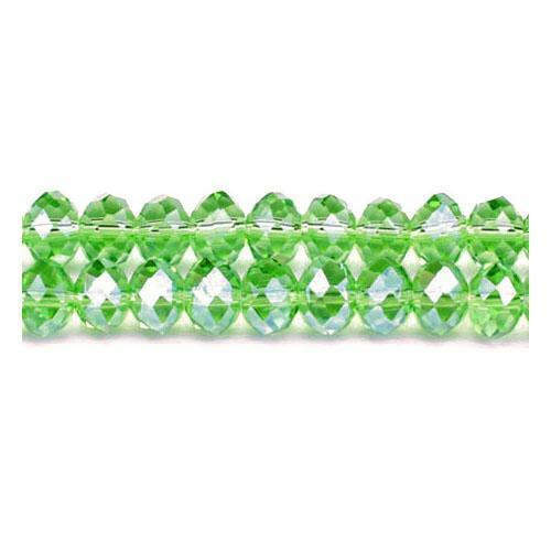 Vidrio Cristal Checo Verde Facetas Rondelle Perlas 6 X 8mm 70 PIEZAS HAZLO TÚ MISMO Joyería