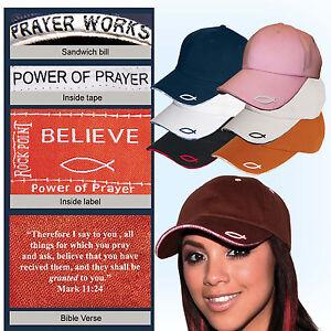 Rockpoint-Power-of-Prayer-hat-Fish-Bible-Verse-6-colors-adjustable-cap-colors