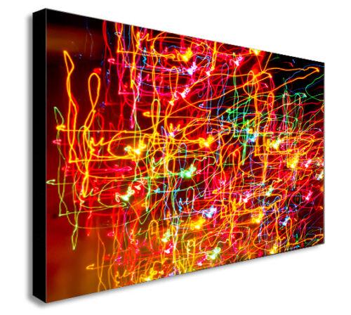 Various Sizes NEON LIGHTS ABSTRACT MODERN  Canvas Wall Art Print