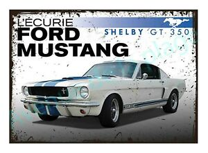 Plaque carton vintage Ford Mustang Shelby décoration rétro muscle car Neuf