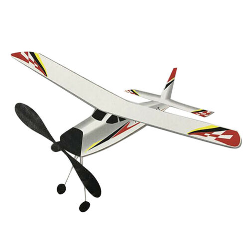 Elastic Powered Fixed-wing Airplane Glider Flying Toy for Kids Childnre Gift