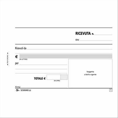 Analitico Ricevute Generiche Autoricalcanti 17x10cm Duplice Copia Carta Chimica Semper
