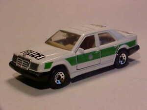 3 INCH Mercedes-Benz 300E Police W124 1986 Matchbox 1/64 Diecast Mint Loose