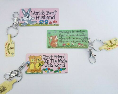 COLOURFUL KEYRINGS MARRIAGE IS KEY RINGS NOVELTY FUN RELATIONSHIP