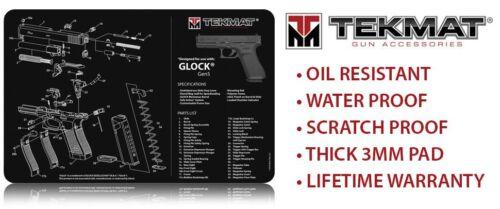TekMat Pistolet Nettoyage et entretien Bench Mat pour utilisation avec GLOCK GEN pistolet 5