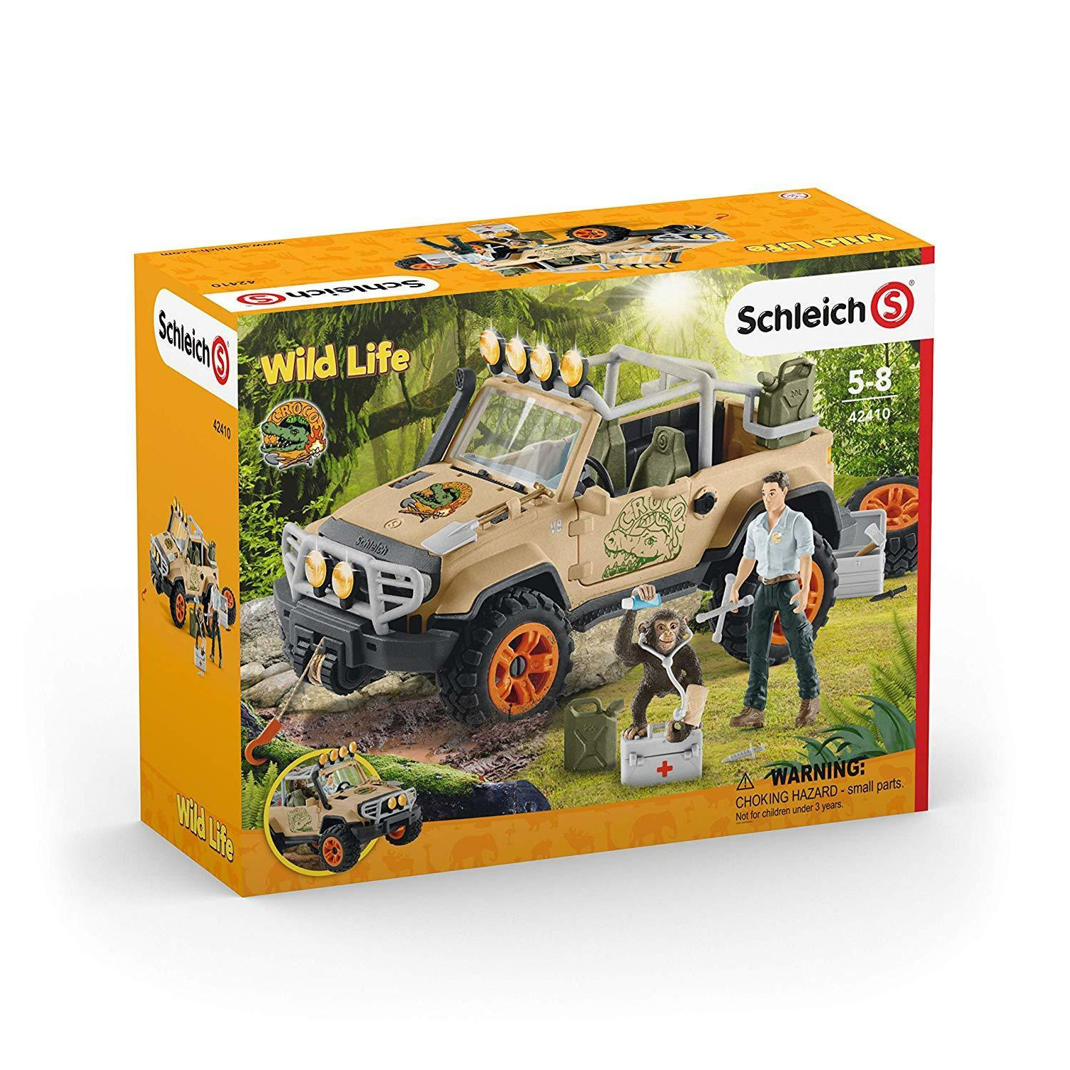 Schleich Wild Life 424101 - off Road Car with Winch New &