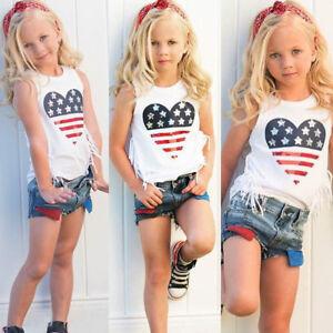 Toddler-Kid-Baby-Girl-Summer-Top-T-shirt-Short-Pants-Outfit-Set-Clothes-2pcs-Set