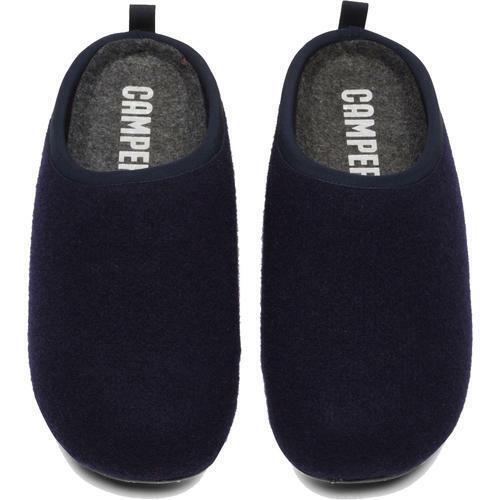 Camper Wabi Mens Grey Blue Outdoor Sole Felt Slippers Shoes Size 7-12