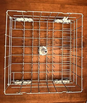 Whirlpool or Kenmore Dishwasher Lower Dish Rack PN W10311986 With Wheels/Tube