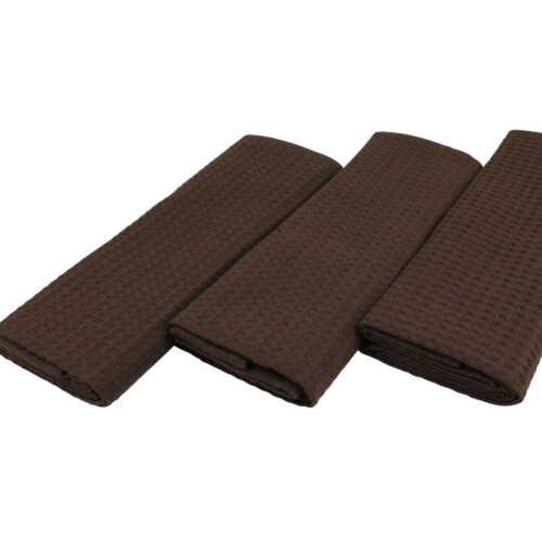 6 foulards vaisselle COTON GAUFRE-Bouffigue Cappuccino Beige Moka vaisselle serviette