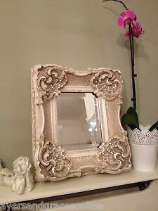 ORNATE-ANTIQUE-FRENCH-STYLE-GOLD-SILVER-IVORY-MIRROR