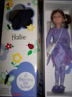 In Box Retired American Girl Hopscotch Hill 16 Hallie Doll With Book