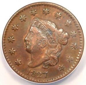 1827-Coronet-Matron-Large-Cent-1C-ANACS-XF40-Details-EF40-Rare-Coin
