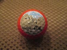 LOGO GOLF BALL-MT. RUSHMORE........RED BALL....RARE....AWESOME..