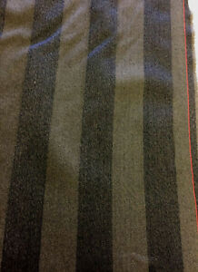 Brown-Stripes-100-Wool-Curtain-Furnishing-Fabric-Made-In-England