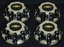 8 LUGS NEW CHEVY BLACK EXPRESS VAN 2500 3500 CHROME REPLACEMENT CENTER HUB CAP
