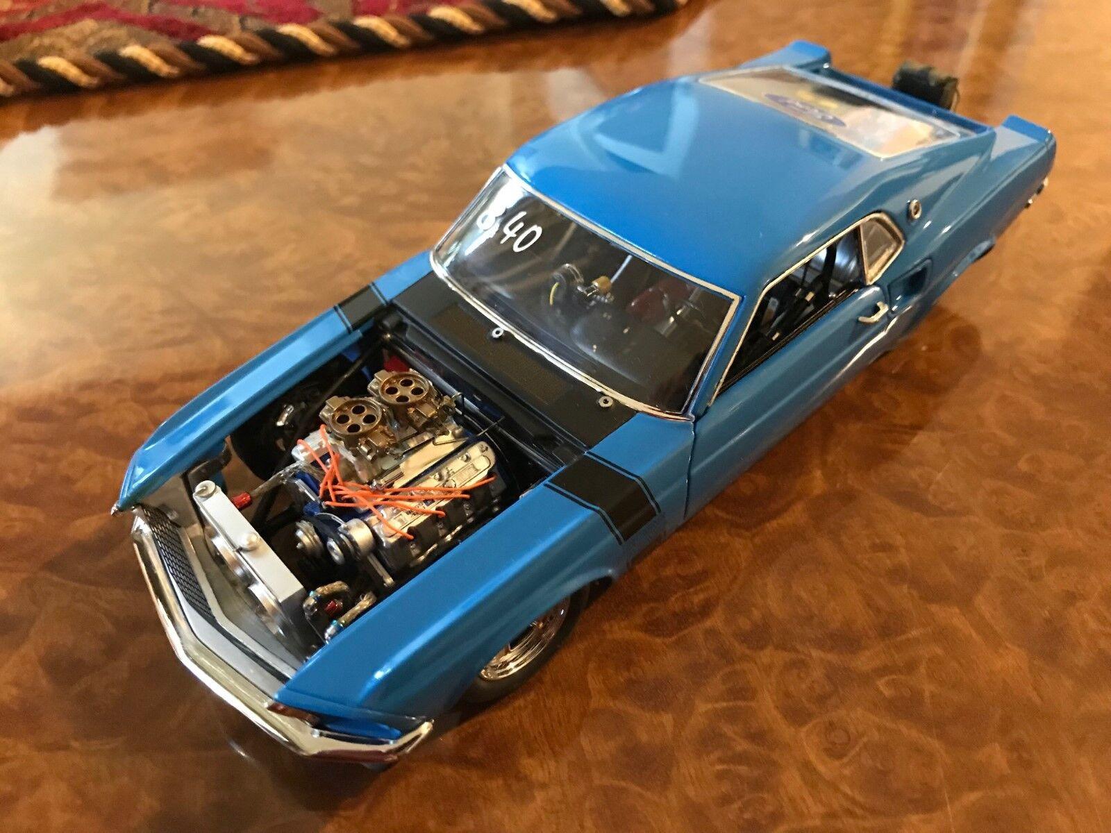 Danbury Mint Tout Nouveau 1 24 1969 Ford Mustang Boss Nine Pro-Street