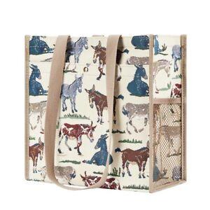 Signare Esel Muli Happy Donkey Gobelin Einkaufstasche Maultier Beutel Shopper