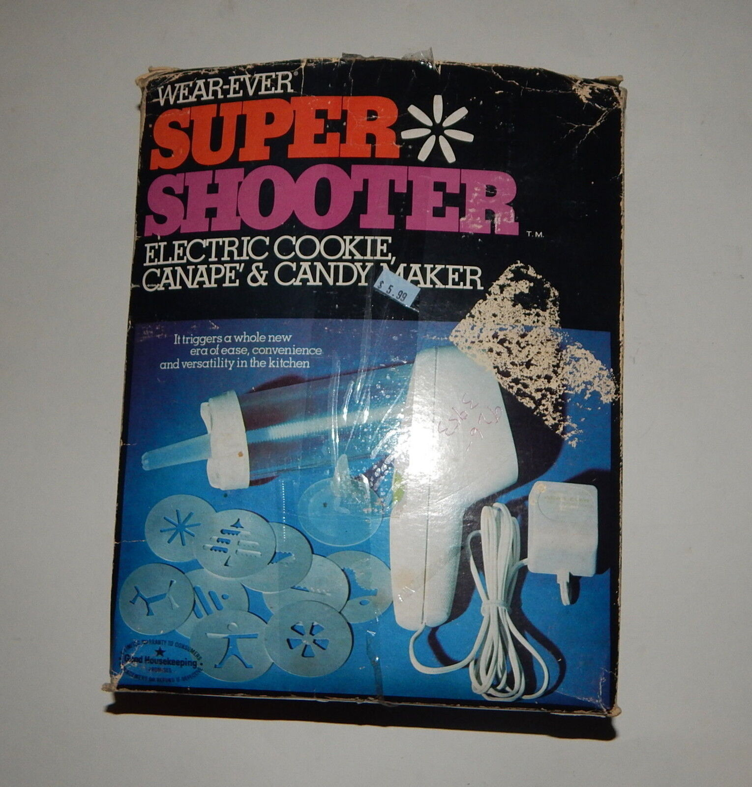 Vintage Wear-Ever Super Shooter Electric Cookie, Canape & Candy Maker R19285