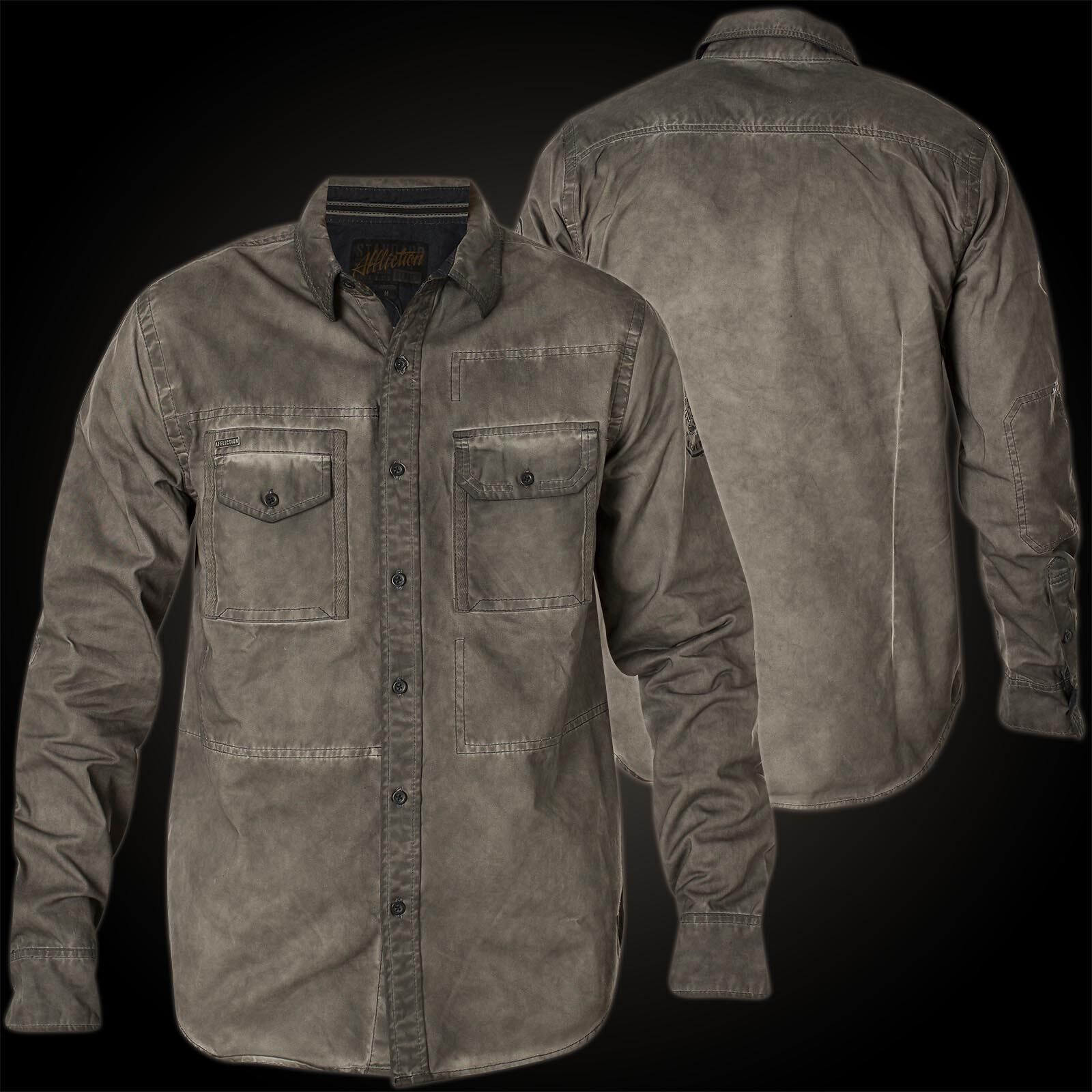 Affliction Camicia GRAPHITE Bay Camicie GRIGIO