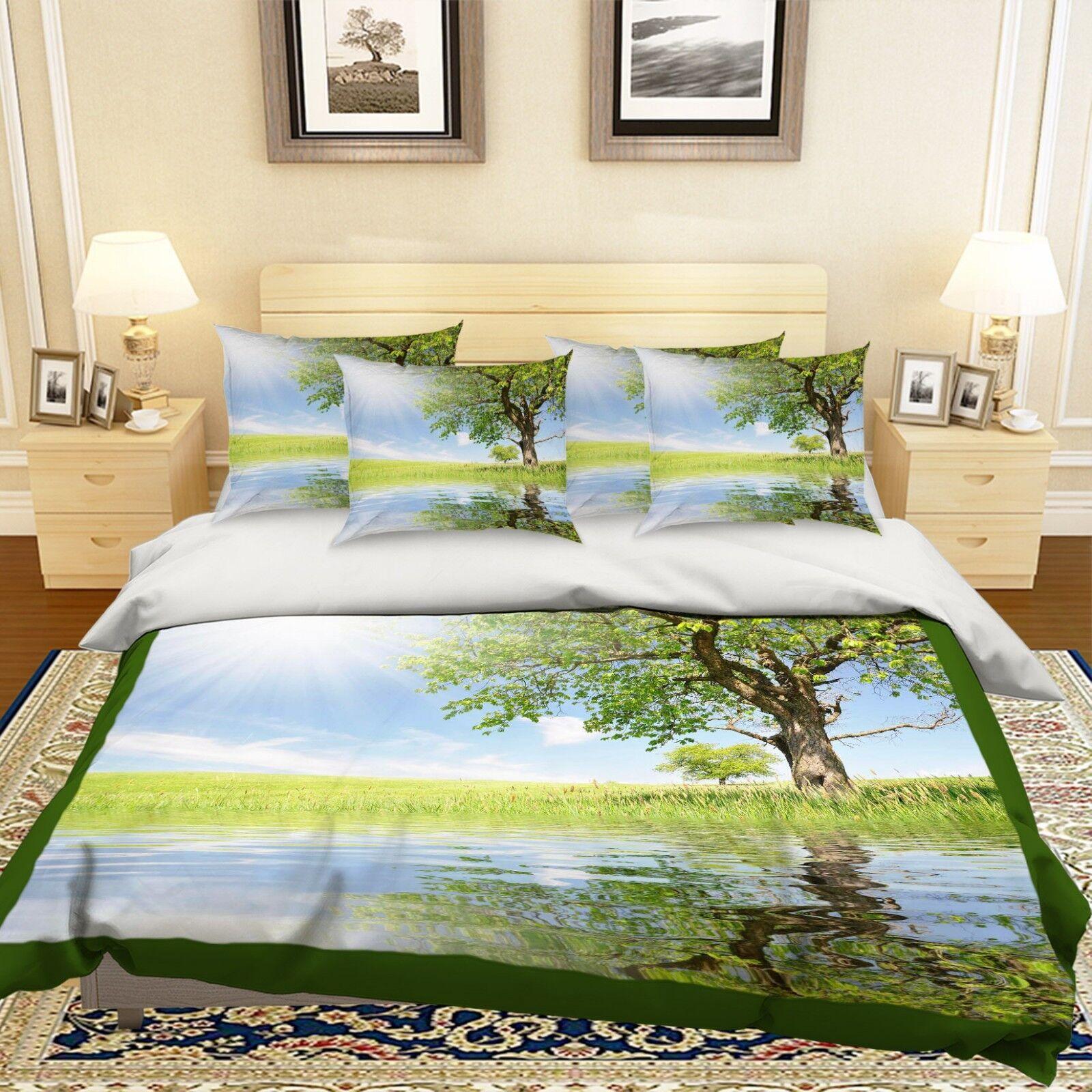 3D Sky Landscape 768 Bed Pillowcases Quilt Duvet Cover Set Single Queen King CA