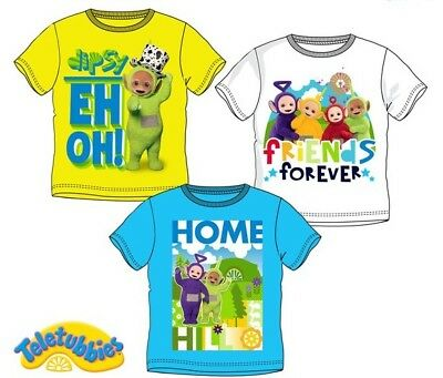 T-shirts & Polos Teletubbies T-shirt 98 104 110 116 Kurzarm Junge Kinder Shirt Dipsy Po Laa-laa Sophisticated Technologies