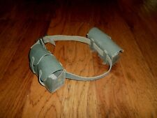 WWII ITALIAN MILITARY M-1891 LEATHER AMMUNITION  CARCANO AMMO POUCHES WITH BELT