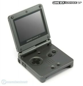 GameBoy-Advance-Konsole-GBA-SP-AGS-101-Onyx-Black-Anthrazit-Stromkabel