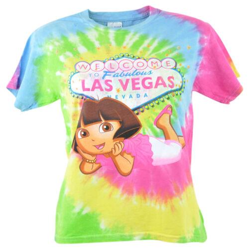 Dora the Explorer Welcome to Las Vegas Nevada Tie Dye Youth Shirt Tshirt