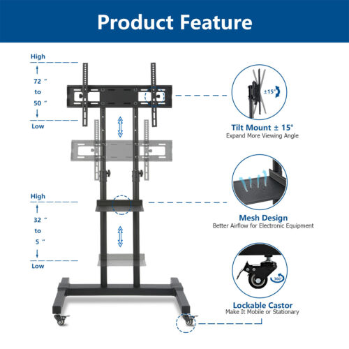 Mobile Trolley TV Stand 32