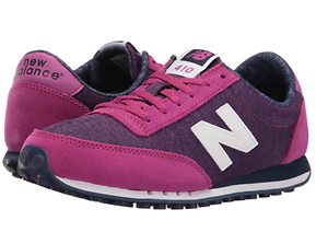 NEW BALANCE WL410OPB WL410 Wmn's (M) Pink/Navy Suede/Mesh Classic Shoes