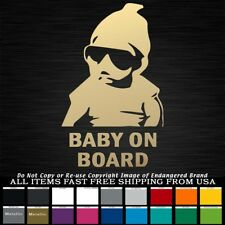 d5904d02374 Funny Baby On Board Thug Life Sunglasses Car JDM Car Truck Sticker Decal