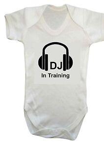 Bébé Garçon Fille Dj En Entraînement Musique Humour Vêtements De