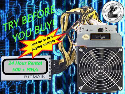 ASIC 1 week 550MH//s Litecoin Mining Crypto Rental LTC Server Lease ANTMINER L3